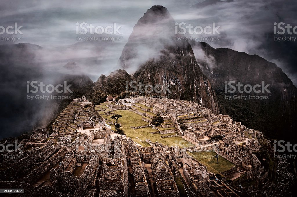 Machu Picchu in Peru. stock photo