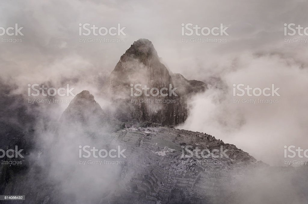 Machu Picchu in Peru. stock photo
