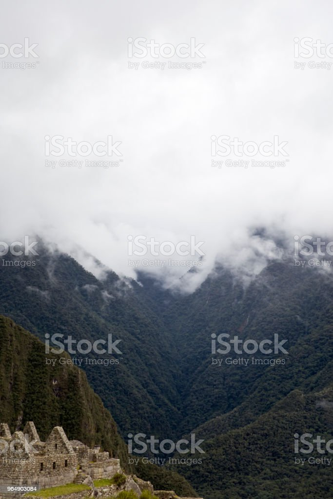 Machu Picchu in Peru royalty-free stock photo