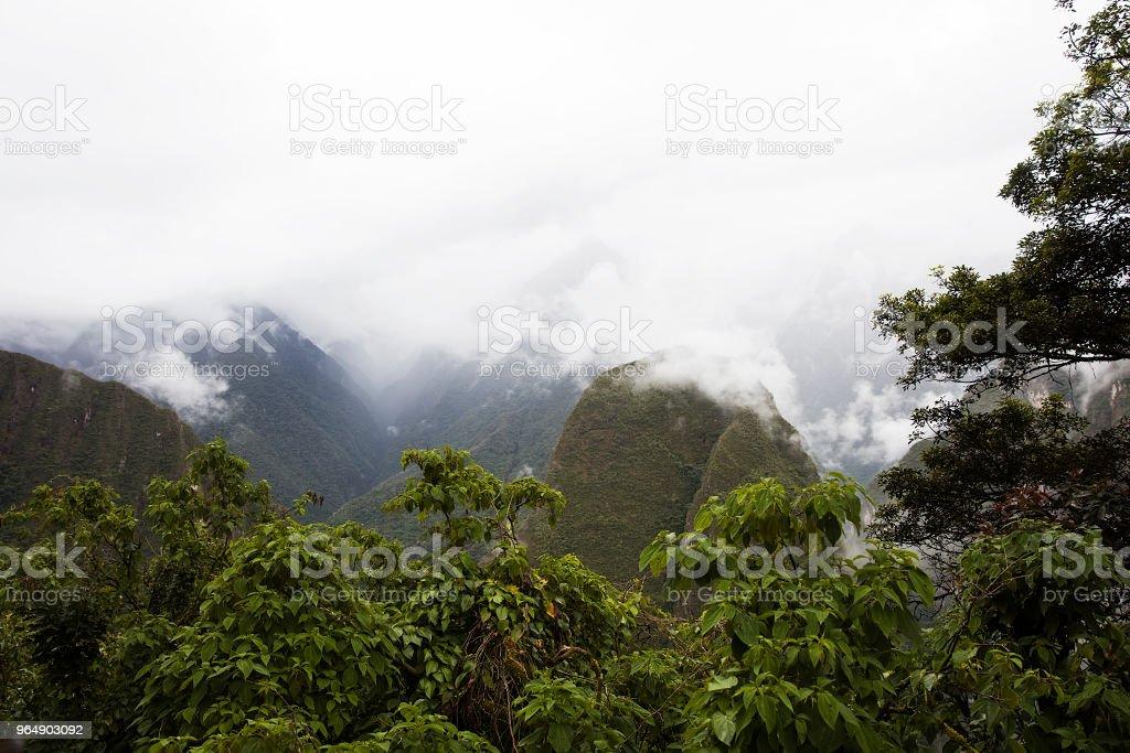 Machu Picchu in Peru royalty-free stock photo