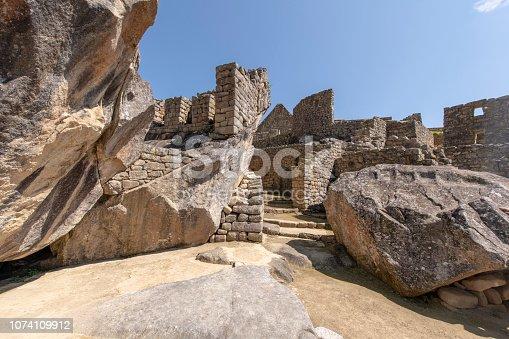 Machu Picchu, the citadel of the Inca Empire located in Peru, South America.