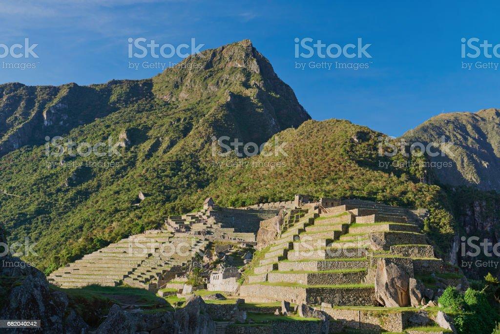 Machu picchu inca heritage town stock photo