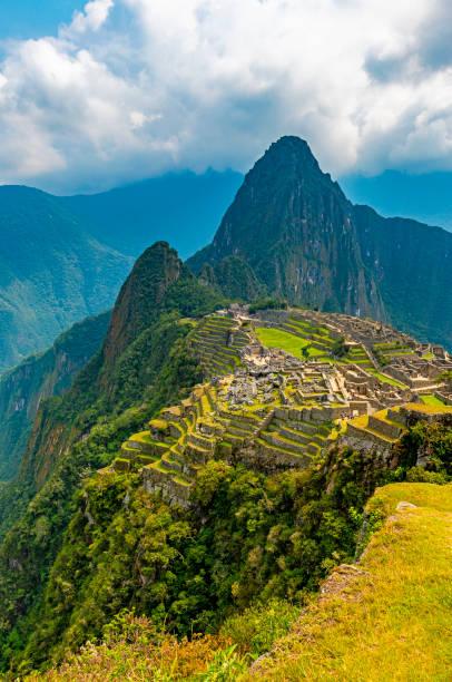 Machu Picchu Inca Ruin, Cusco, Peru stock photo