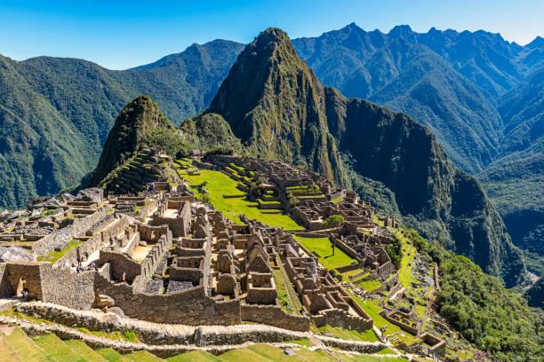 Machu Picchu Inca Ruins, Peru stock photo