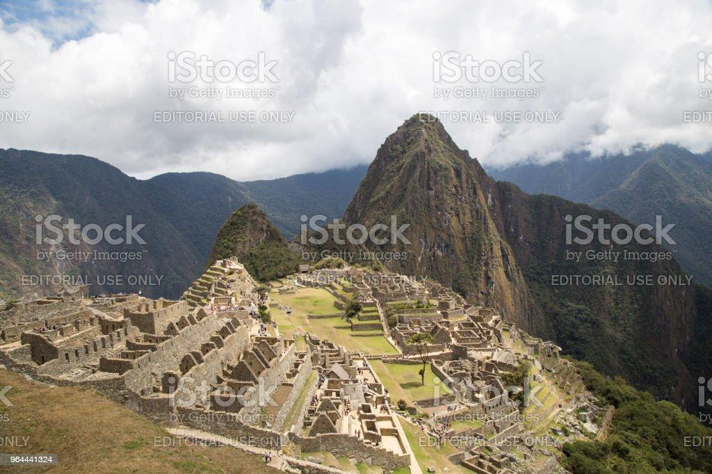 Machu Picchu Inka ruïnes - Royalty-free Amerikaanse cultuur Stockfoto