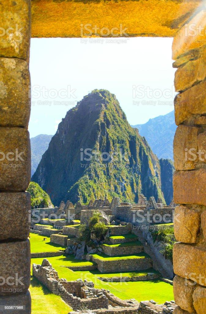 Machu Picchu, Lost City of Incas. Peru stock photo