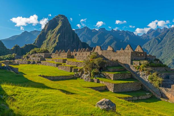 Machu Picchu Main Square, Cusco, Peru stock photo