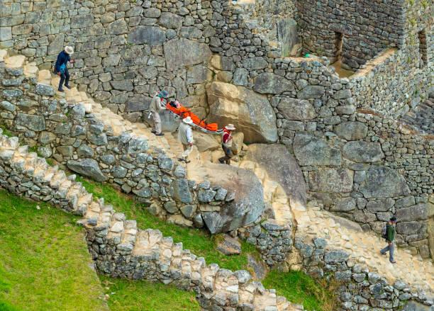 Machu Picchu Medical Emergency, Travel Insurance stock photo