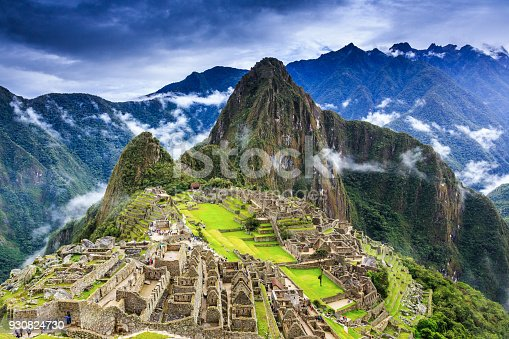 Machu Picchu, Peru. UNESCO World Heritage Site. One of the New Seven Wonders of the World