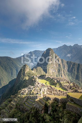 Machu Picchu, the citadel of the Inca Empire.