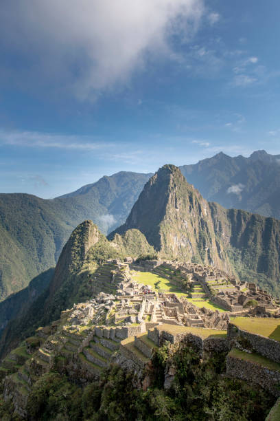 Machu Picchu Machu Picchu, the citadel of the Inca Empire. unesco stock pictures, royalty-free photos & images