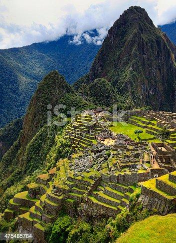 The Incan ruins of Machu Picchu.