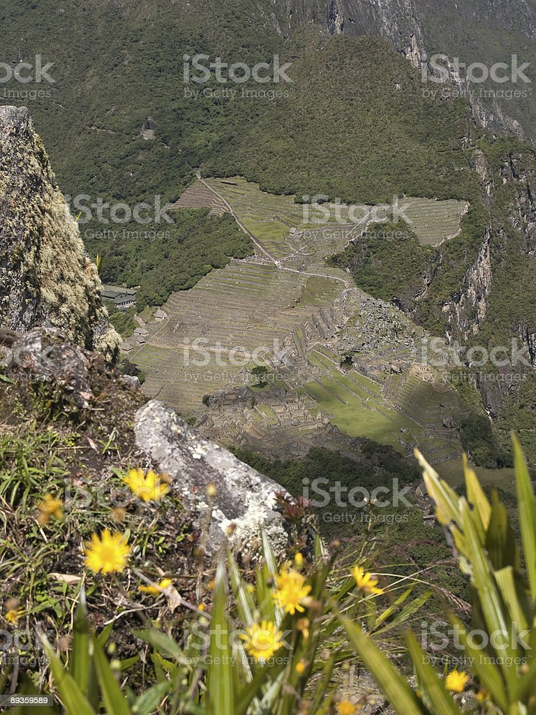 Machu Picchu, Perù) foto stock royalty-free