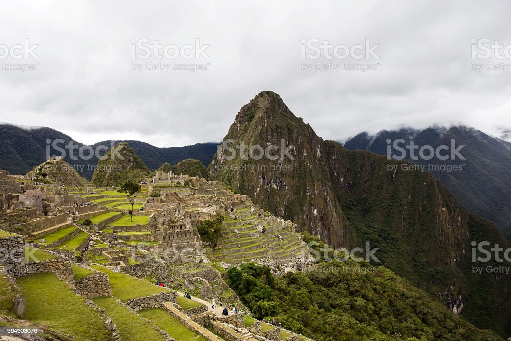 Machu Picchu ruins in Peru royalty-free stock photo