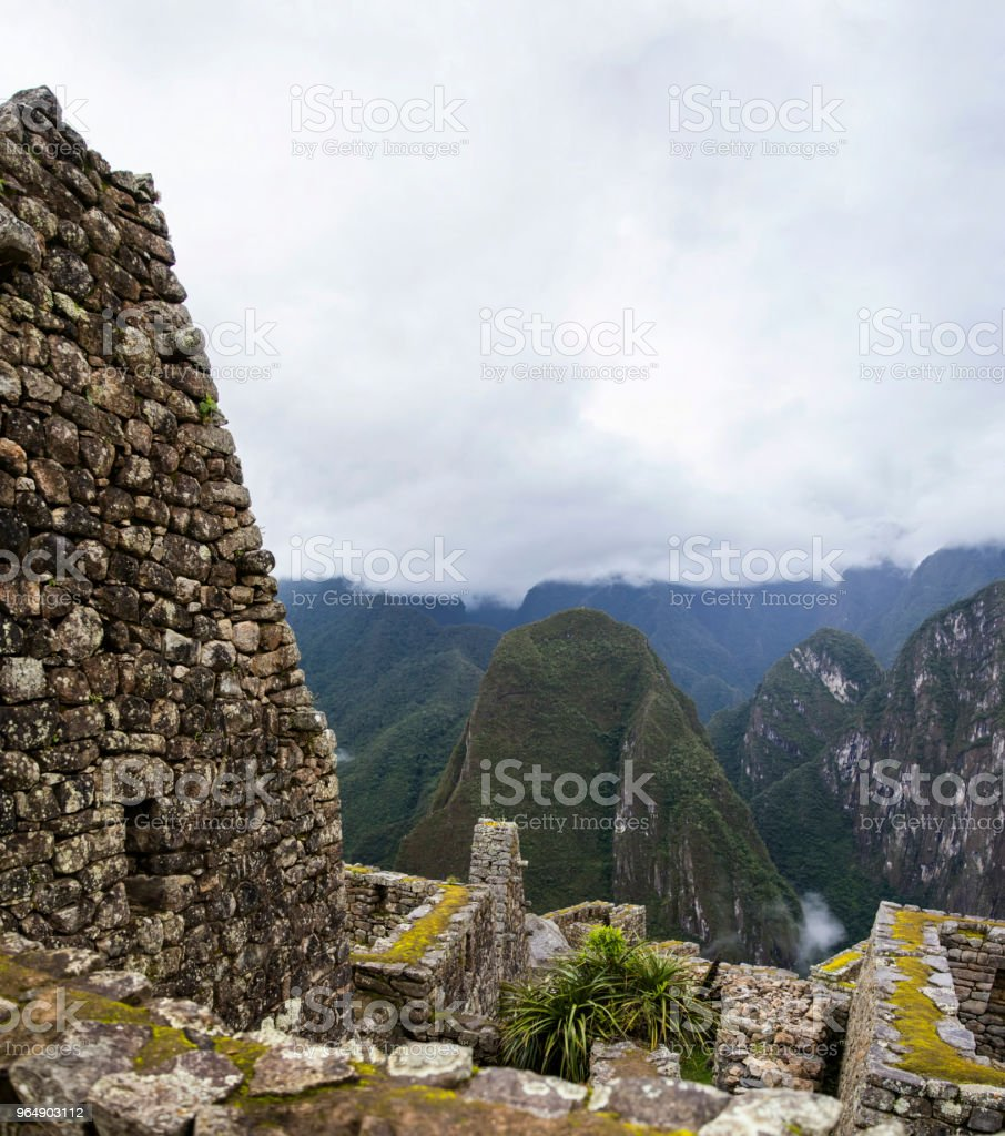 Machu Picchu ruins in Peru royalty-free stock photo