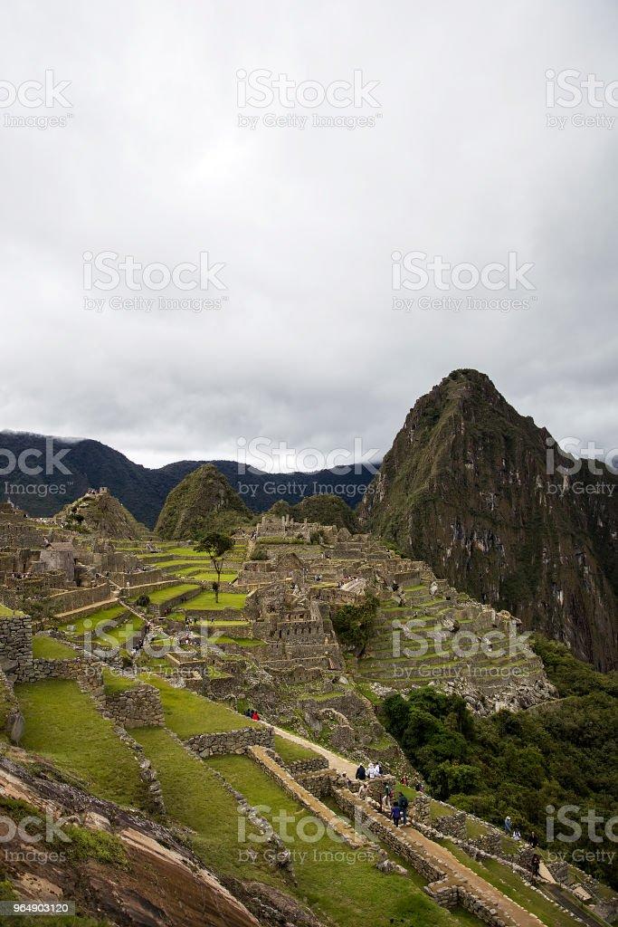 秘魯馬丘比丘遺址 - 免版稅南方圖庫照片