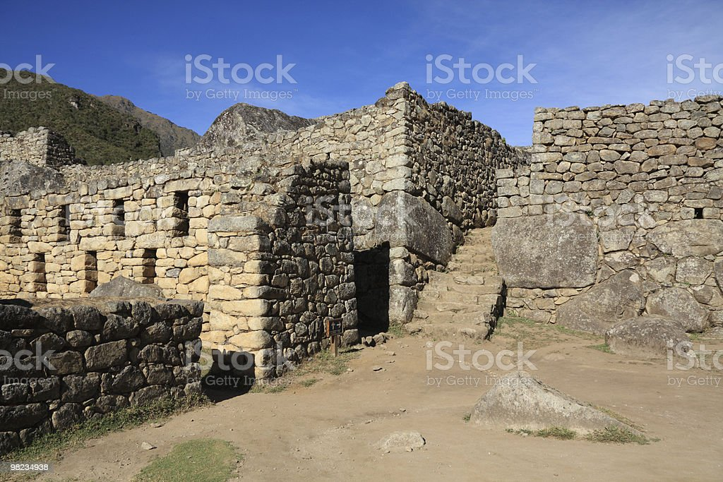 Machu Picchu ruins royalty-free stock photo