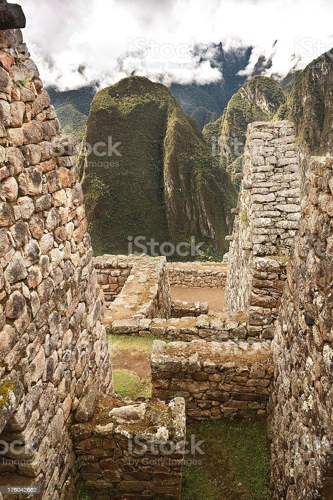 Machu Picchu Walls royalty-free stock photo