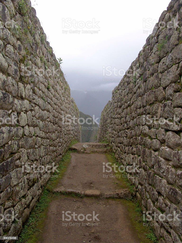 Machu Picchu murs photo libre de droits