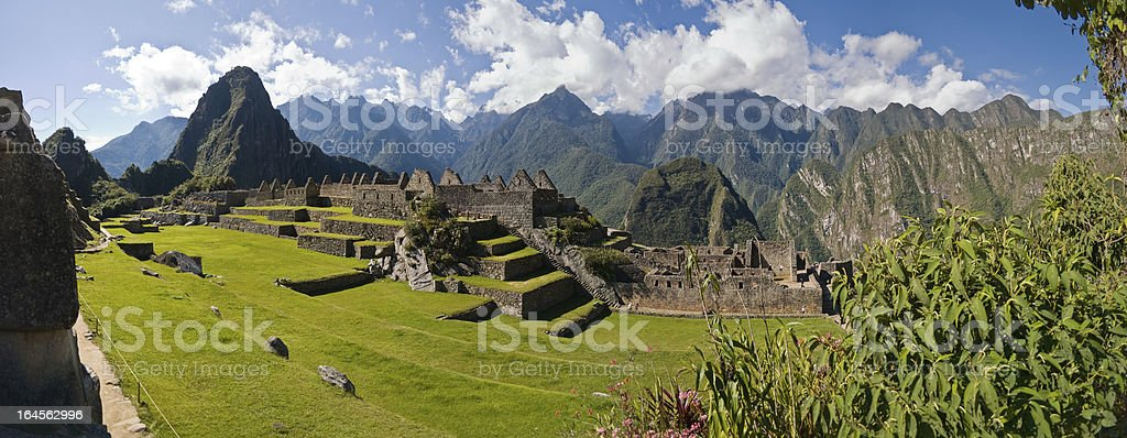 Machu picchu with Huayna in the background royalty-free stock photo