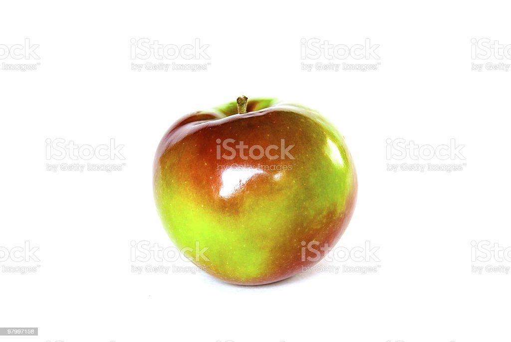 MacIntosh apple isolated on white royalty-free stock photo