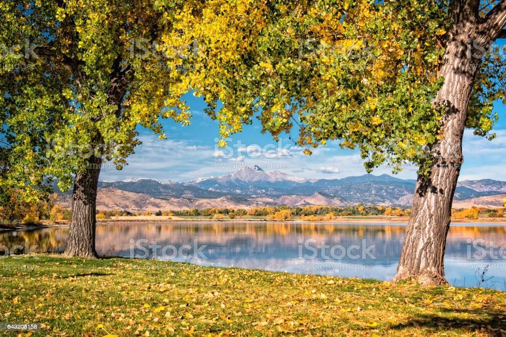 MacIntosh Lake in longmont Colorado stock photo