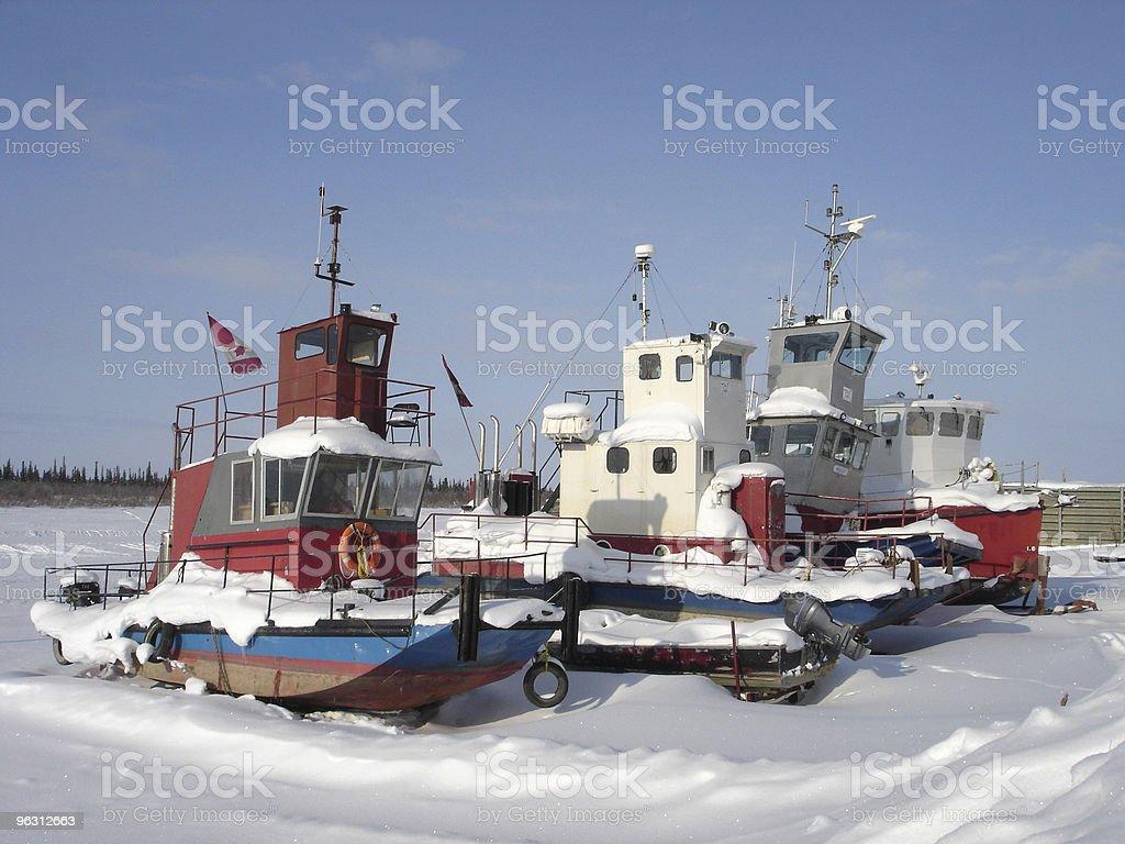 Mackenzie River Ships horizontal stock photo