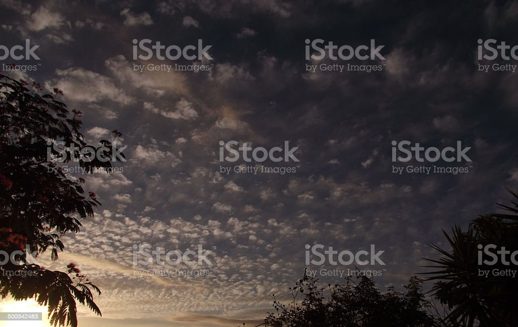 Mackerel Sky at Dusk royalty-free stock photo