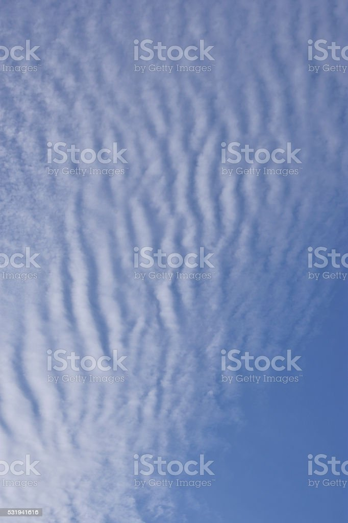 Mackerel sky stock photo