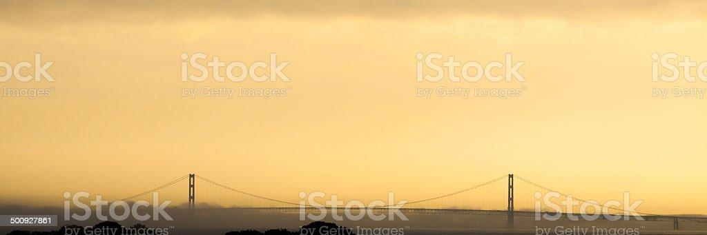Mackinac Bridge stock photo