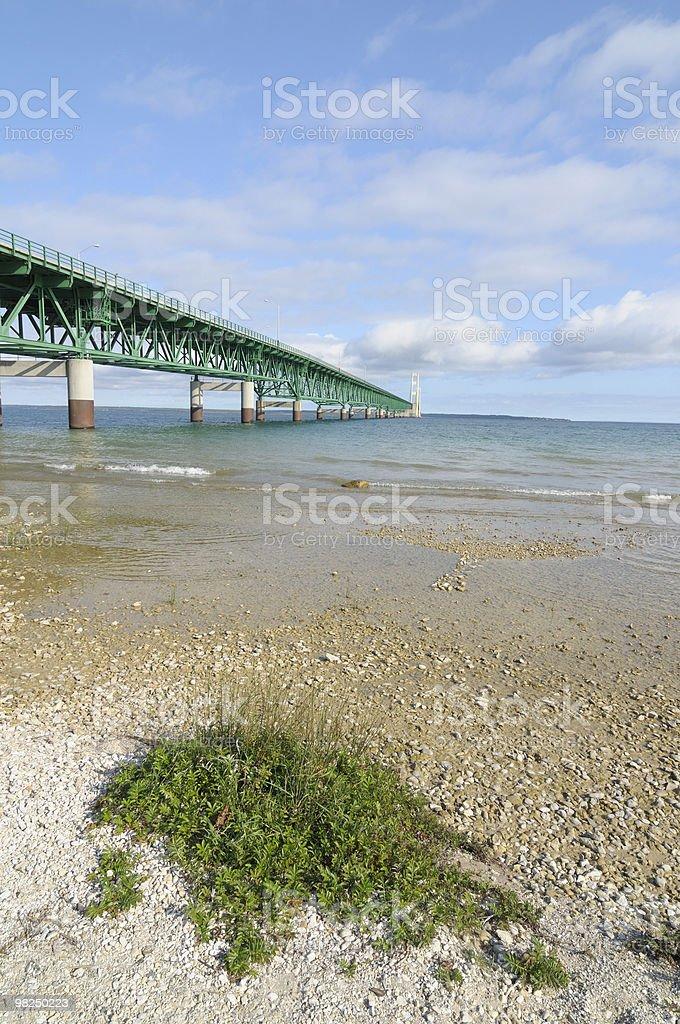 Mackinac Bridge royalty-free stock photo