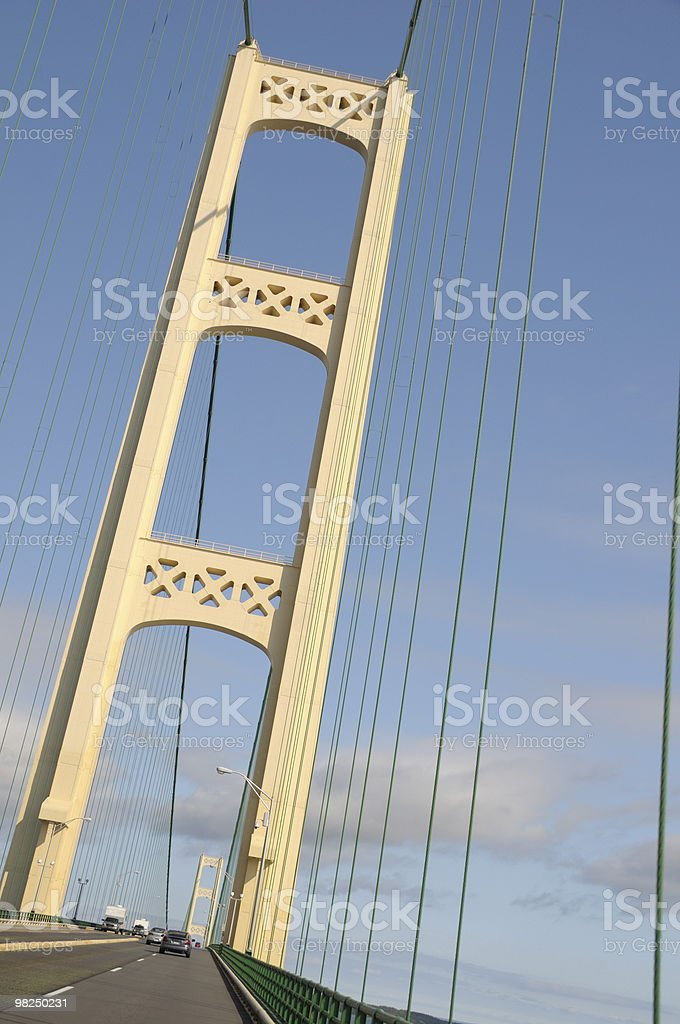 Mackinac Bridge royalty-free stock photo