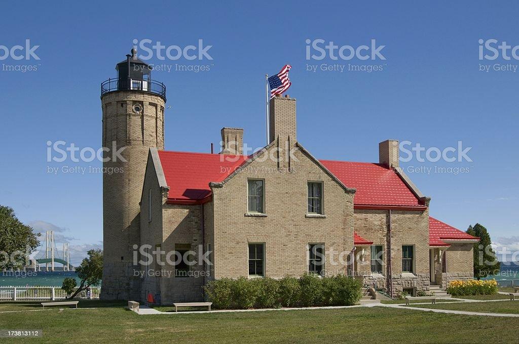 Mackinac Lighthouse stock photo