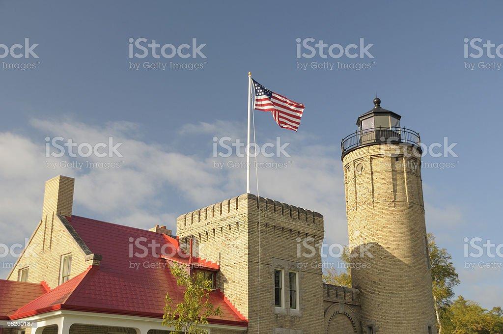 Mackinac Lighthouse royalty-free stock photo