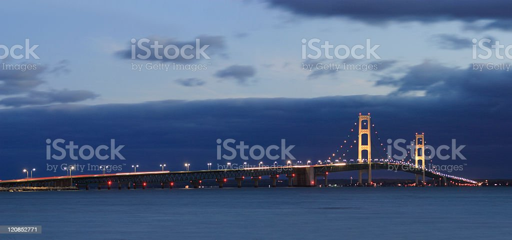 Mackinaw Bridge royalty-free stock photo