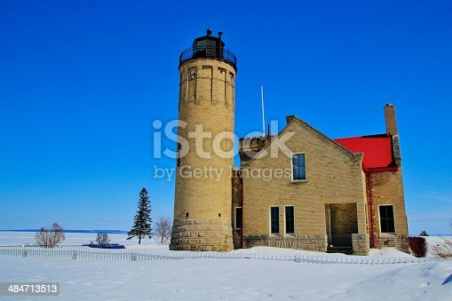 182421396 istock photo Mackinaw Point Lighthouse 484713513