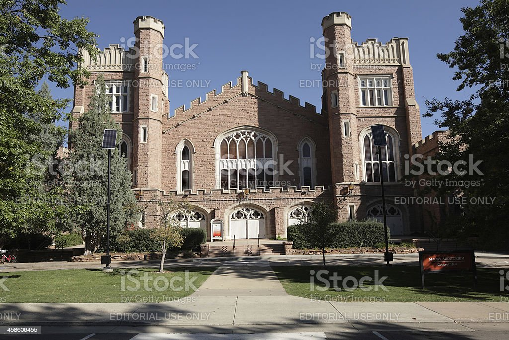 Macky Auditorium, University of Colorado, Boulder stock photo