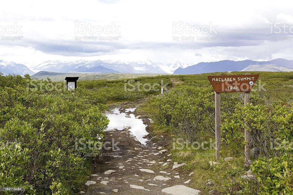 Maclaren Summit Trailhead stock photo
