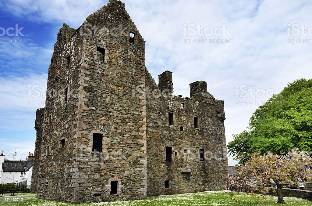 MacLellans Castle, Kirkcudbright, Scotland stock photo