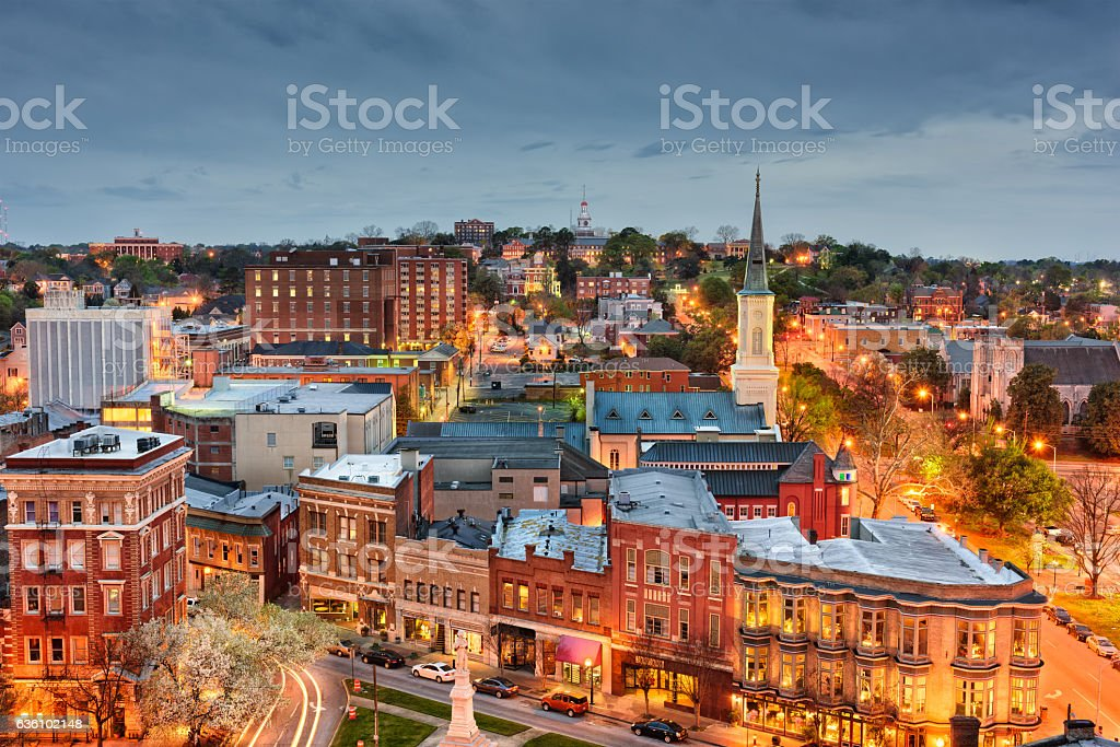 Macon Georgia Skyline stock photo