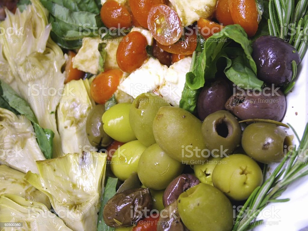 Macro - Antipasti stock photo