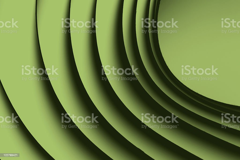 macro background picture origami pattern of curved sheets green royalty-free stock photo