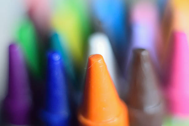 Macro background texture colorful crayon stock photo