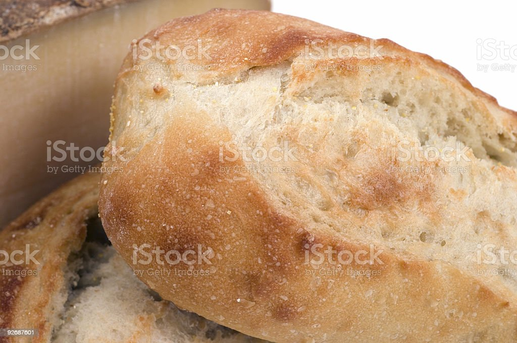 Macro bread and cheese royalty-free stock photo