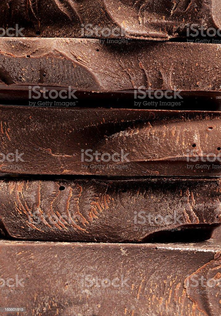 macro chocolate pile royalty-free stock photo
