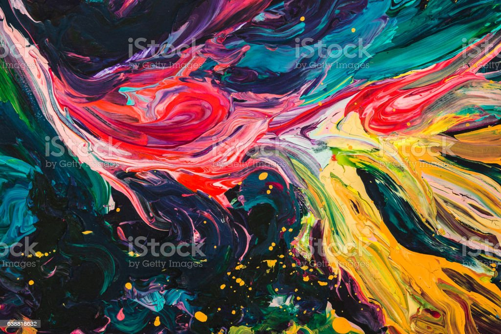 macro close up of different color oil paint. colorful acrylic – Foto