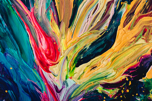 istock macro close up of different color oil paint. colorful acrylic 638820296