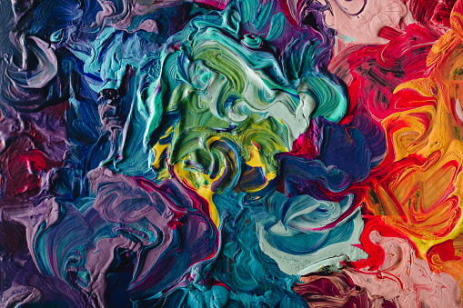 istock macro close up of different color oil paint. colorful acrylic 638820556