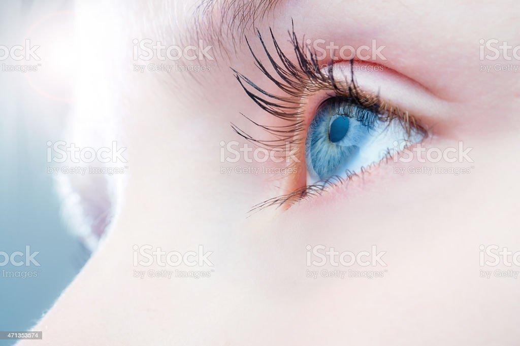 Makro Nahaufnahme des menschlichen Auges. – Foto