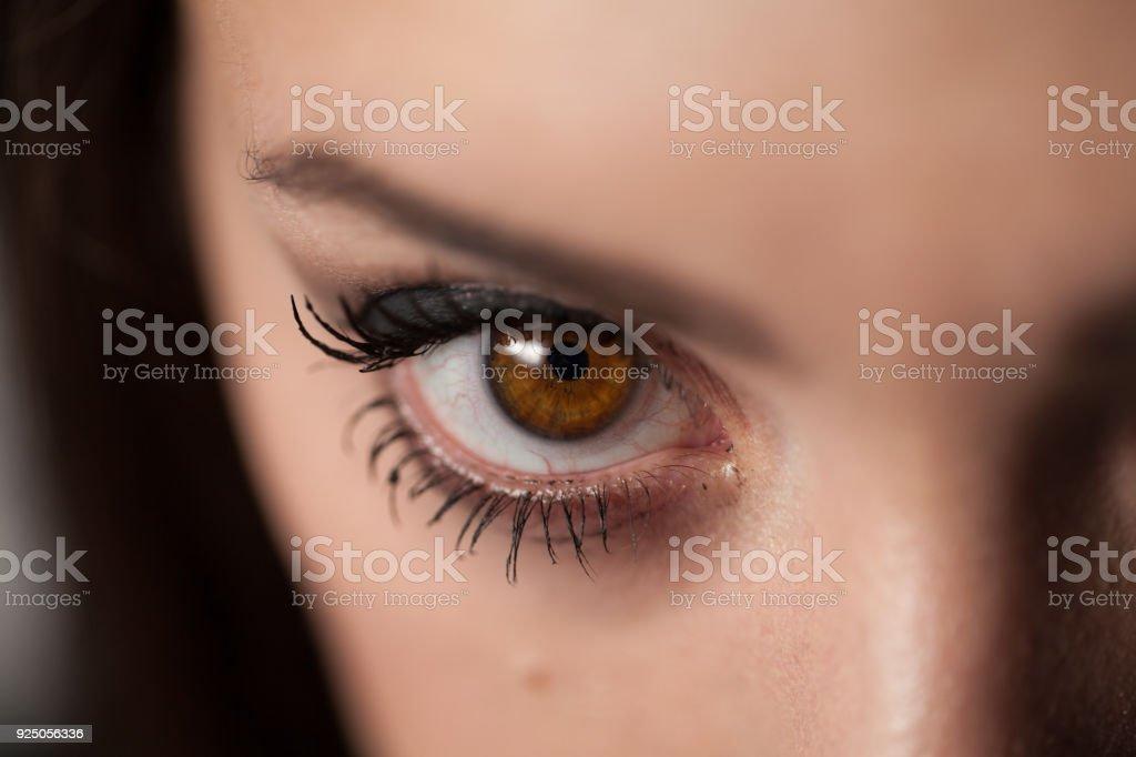 Macro Close-Up jonge vrouw oog foto